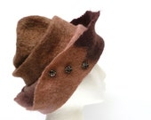 Wool Felt Hat Quite Brown OOAK