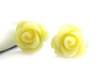 SALE - Lemon Ice Rose Stud Earrings