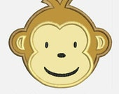 Modern Monkey Boy...Embroidery Applique Design...Three sizes for multiple hoops...Item1155...INSTANT DOWNLOAD