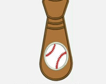 Baseball Tie...Embroidery Applique Design...Three sizes for multiple hoops...Item1448...INSTANT DOWNLOAD