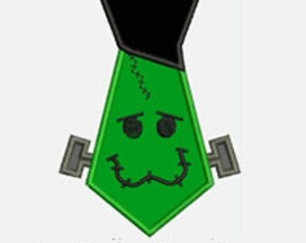Frankenstein Tie...Embroidery Applique Design...Three sizes for multiple hoops...Item1538...INSTANT DOWNLOAD