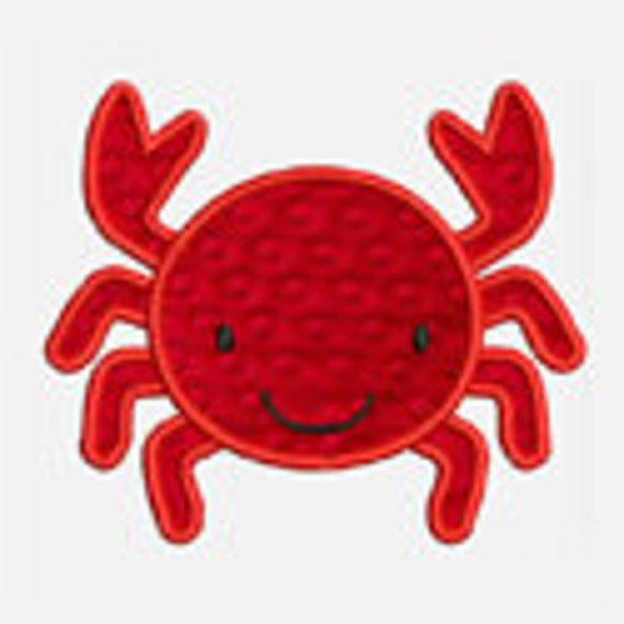 Crab...Embroidery Applique Design...Three sizes for multiple hoops...Item1018...INSTANT DOWNLOAD