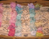 Scrunched Seam Binding ribbon, Seam Binding Hand Dyed - Distress Antiqued Vintage Inspired, 110 Yards Paris Market ECS