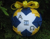 Custom Fraternity/Sorority Quilted Christmas Ornament