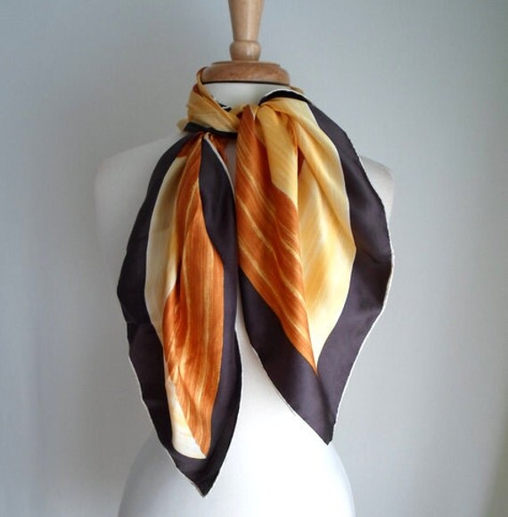 Yellow & Orange Silk Scarf