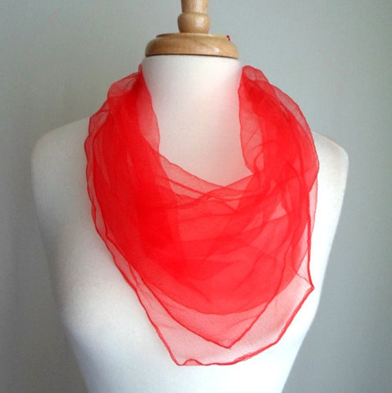 Red Sheer Scarf