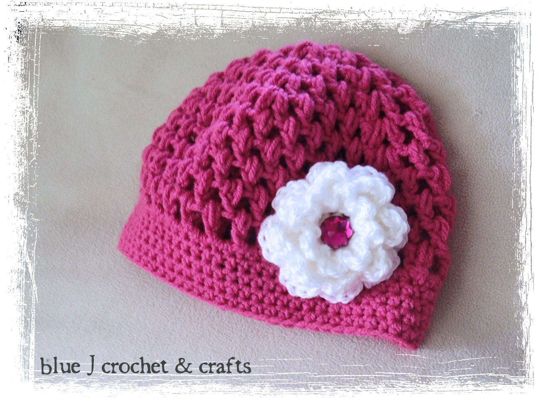 Crochet Hat Pattern With Puff Stitch : Crochet Pattern Seabreeze Puff Stitch Hat NB to Adult