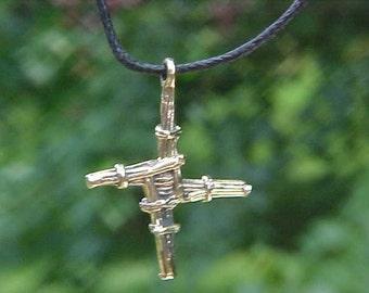St BRIGiD or St BRIDGIT Irish cross pendant cast in 18 K Yellow  Gold  KAM Copyrighted Design