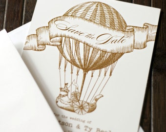 Hot Air Balloon Save the Date Printable