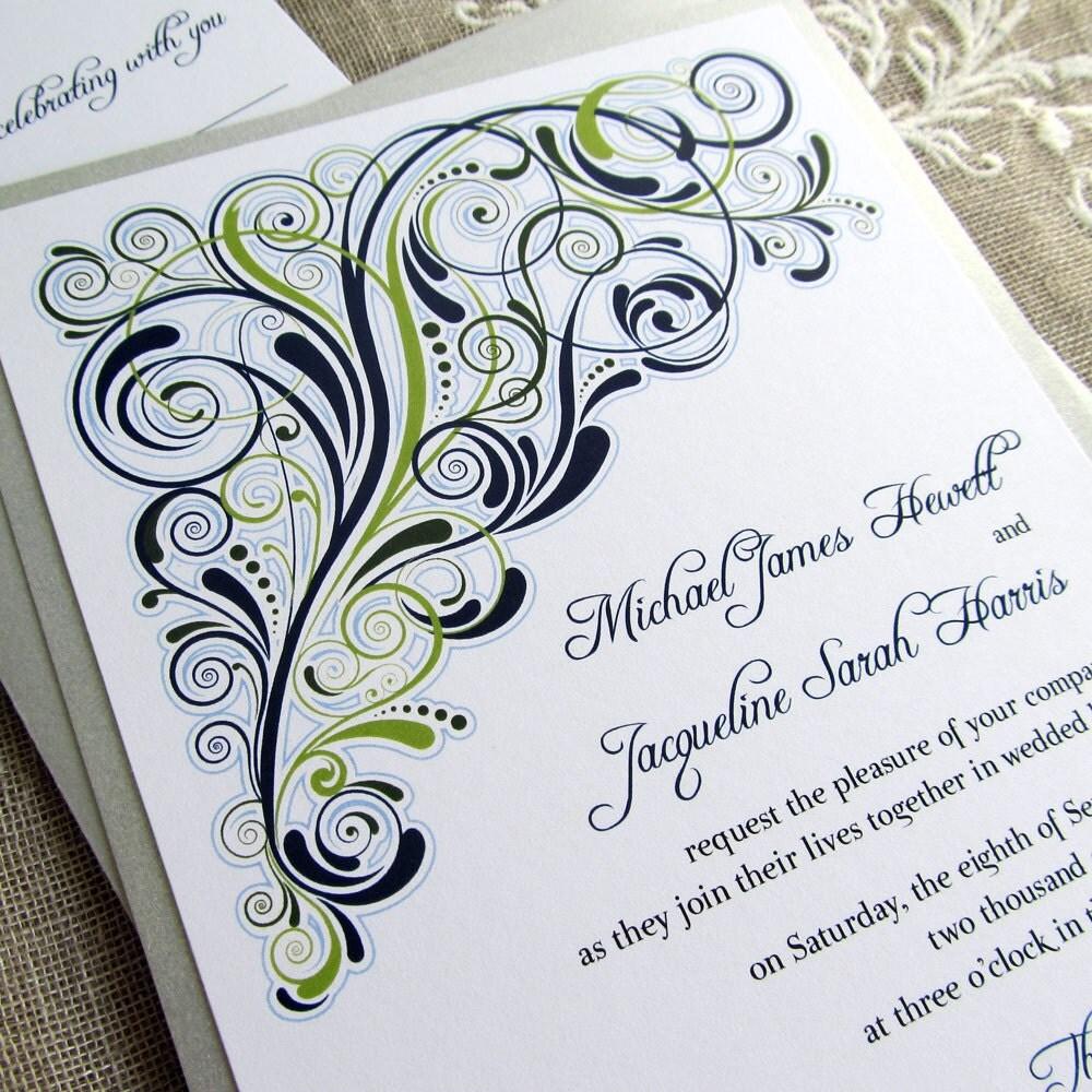Art Deco Wedding Invitation: Printable Art Deco Wedding Invitations By EdenWeddingStudio