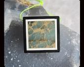 Emperor Jasper,Black Stone Intarsia Pendant Bead,31x6mm,13.68g