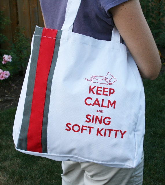 CLEARANCE - The Big Bang Theory Keep Calm and Sing Soft Kitty Tote Bag