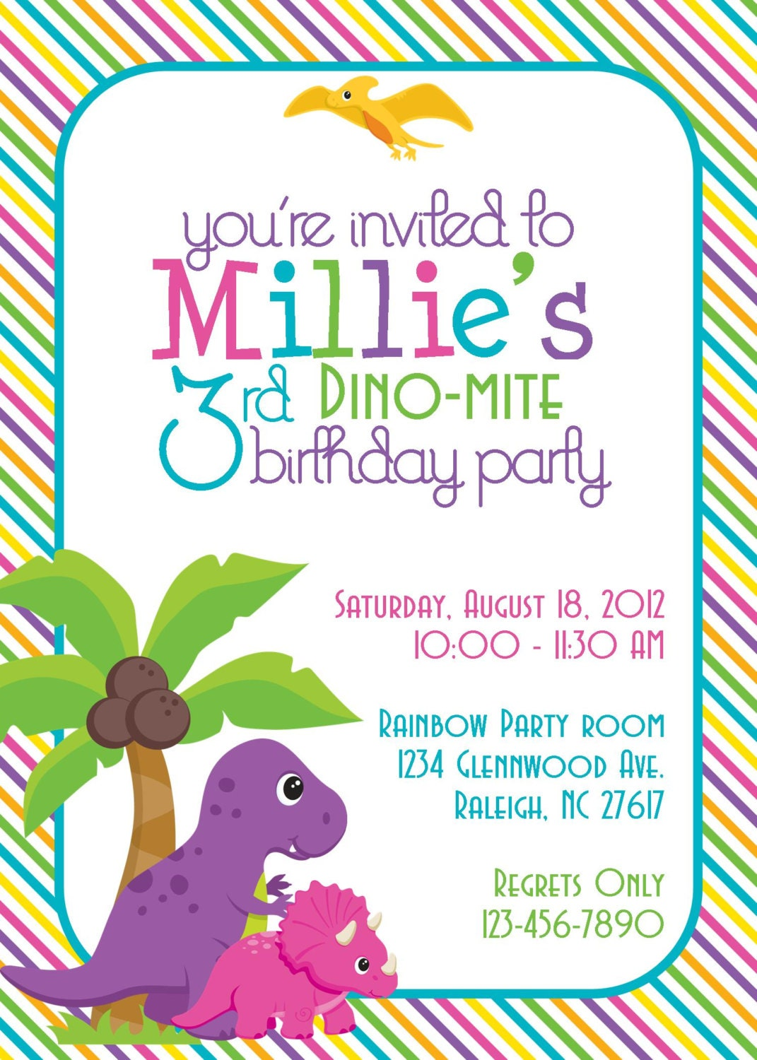 It is a picture of Tactueux Dinosaur Party Invitations Free Printable