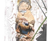 """Shipping Incl. as with all R R items: very tall doll, stitched entirely by hand, with no pattern,  """"Widowed Washer Woman"""" ke"""