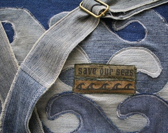 Upcycled messenger bag- Made to Order, Eco Friendly, OOAK