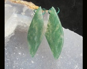 Natural Green Chalcedony Earring Beads,41x14x5mm,7.64g