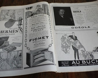 Art Deco Magazine, 1925 advertisements, antique fashion,  images twenties, black and white,  french art, antique journal, adverts 20s
