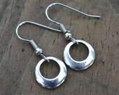 Clearance  Sale . Silver Hoops . Earrings