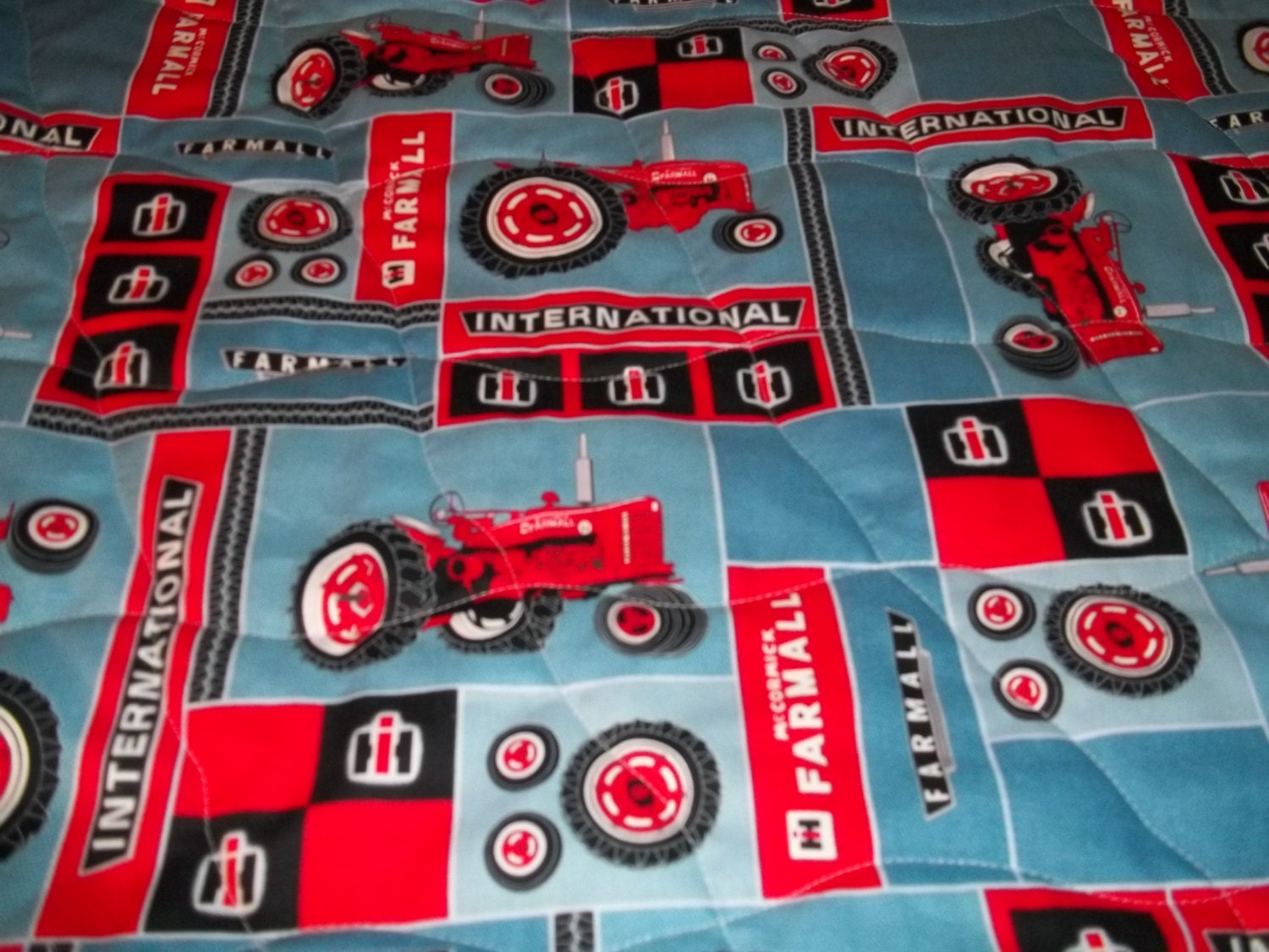 International Harvester Farmall Red Tractor Toddler Bed