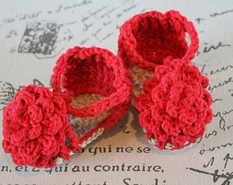 Flower Sandals Crochet Baby Booties - CUSTOM OPTIONS AVAILABLE