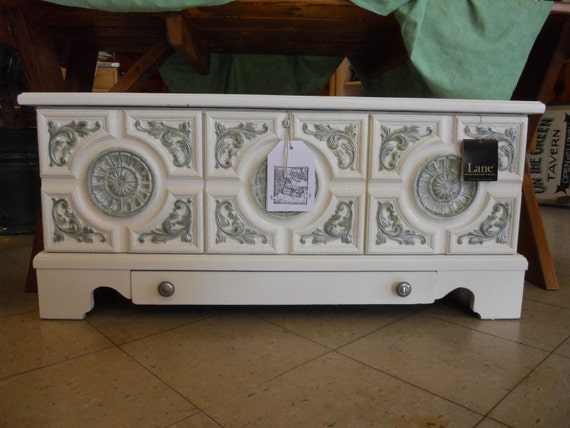RESERVED Cedar Chest from Lane with a Tuscan Carved front