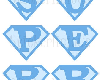 Printable Superman SUPER BABY BOY Banner - Small - Diy Digital pdf
