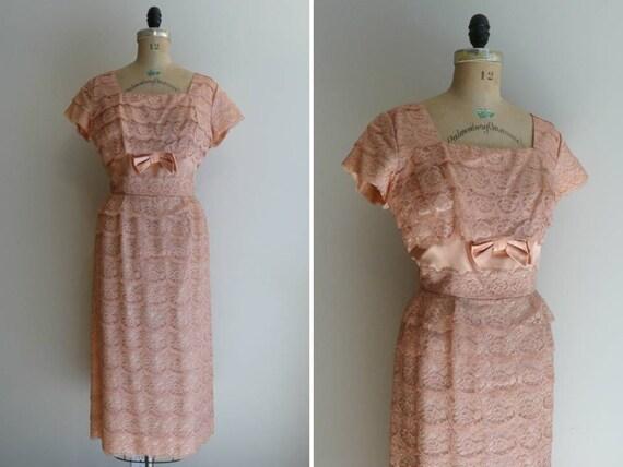 Vintage 1950s Dress Lace Party Ferman O'Grady