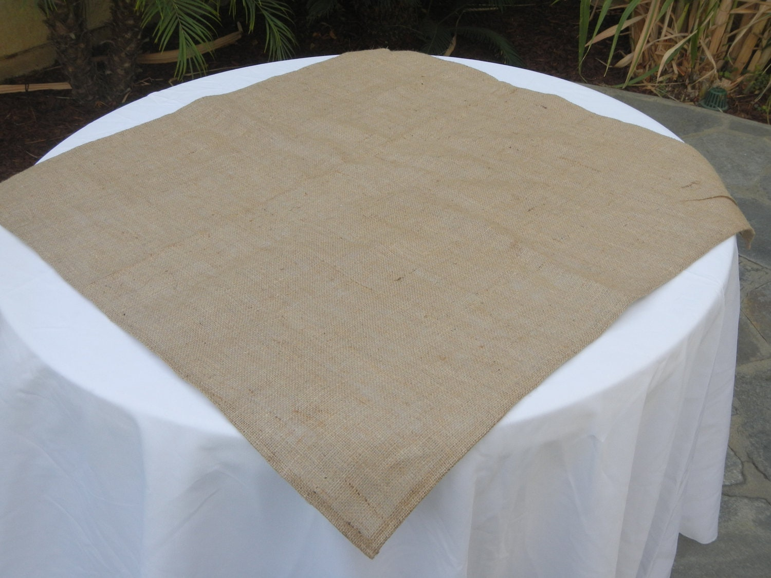 Burlap Round Table Overlays Burlap Table Square Burlap Overlay Wedding Party Shower