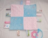 Baby Security Sensory Touch Blankie with Teething Ring