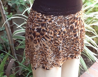 NEW All Stretch Short Wrap Skirt for Dancers in Animal Print