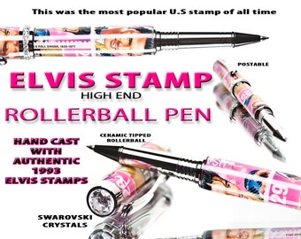 Elvis Presley Stamp Pink Pen (Rollerball) - The perfect gift for the Elvis fan, gifts for women