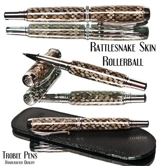 Rattlesnake Pen Rollerball Pen Handmade Writing Instrument