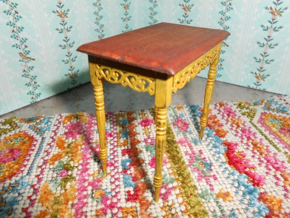 Country Victorian fretwork  painted side table or Helen's table