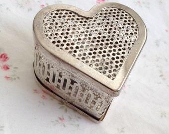 Vintage Silver Heart Box