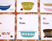 NEW - Vintage Pyrex Gift Tags - Set of 10
