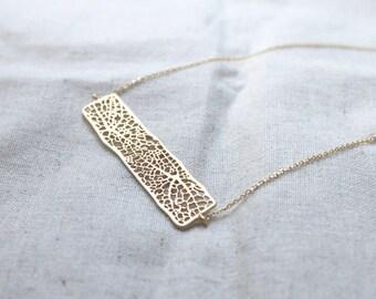 Filigree Bar Necklace - S2292-2