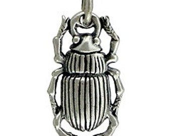 Sterling Silver 20x9.3mm Beetle Charm - 1pc (3994) 15% discounted wholesale price