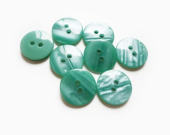 8 Pearl Turquoise Vintage Buttons