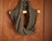 Textured Brown Scarf: Hand Knit Textured Scarf, Chocolate Brown