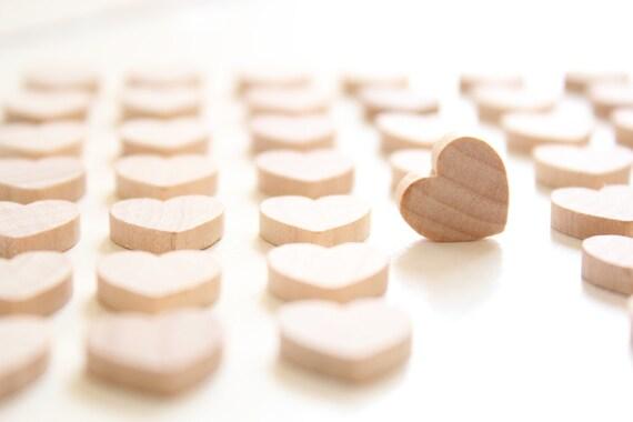 Small Wooden Hearts Heart Wedding Favors 500 Wood Hearts