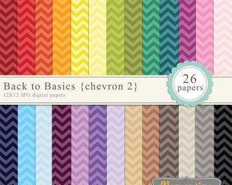Chevron digital paper 12x12, digital scrapbooking paper, royalty free commercial use- chevron2- Instant Download