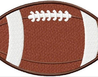 Instant Download Custom Embroidered Football Digitized Football Machine Embroidery design Digital Design File