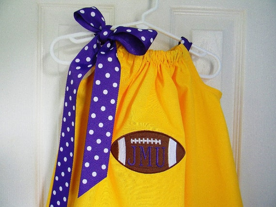Football Dress in Yellow and Purple