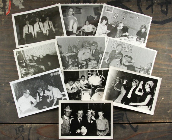 """20 Vintage Photos """"Party Time"""", Photography, Paper Ephemera, Snapshot, Old Photo, Collectibles - 103"""