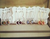 Custom Bridesmaid Swarovski Earrings- 5 Pair