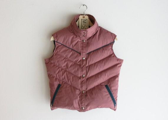 Vintage Pink & Blue Woolrich Woman Goose Down Vest