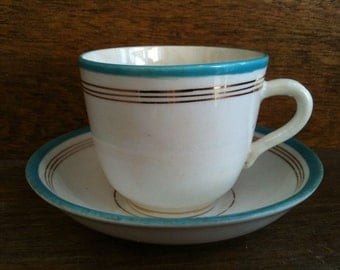Vintage English Small Ceramic Tea Coffee Cup circa 1960's / English Shop