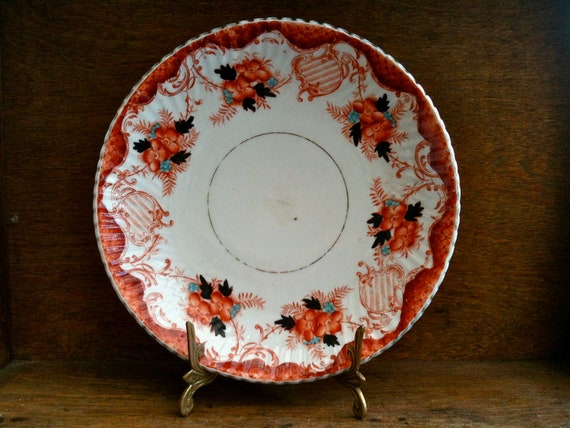 Vintage English Orange Flower Lunch Side Plate circa 1920's / English Shop