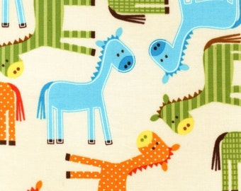 "End of Bolt 1 yard 26.5"" Urban Zoologies Bermuda Ponies by Ann Kelle for Robert Kaufman"