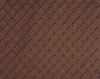 1 Yard of Brown Dimple Minky by Shannon Fabrics